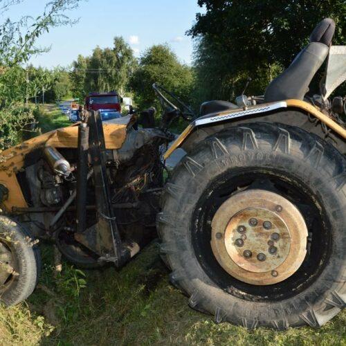 Tragiczny wypadek drogowy z udziałem ciągnika rolniczego