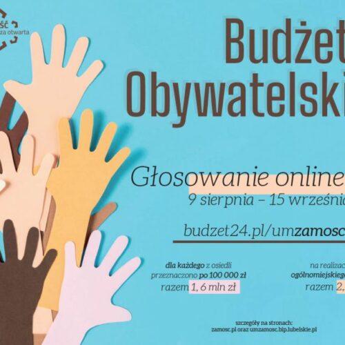 Rusza głosowanie elektroniczne na projekty do Budżetu Obywatelskiego na 2022 rok