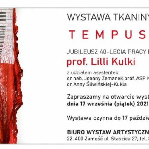 "Wystawa ""TEMPUS FUGIT"" prof. Lilli Kulki"